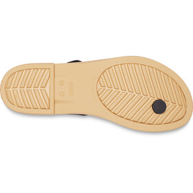 Crocs Tulum Toe Post Sandalias Mujer, black/tan